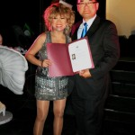Luisa Marshall receiving a Certificate of Recognition from Minister of Multiculturalism, John Yap. Get Inspired Filipino Excellence & Appreciation Night (Part 1) & On Spotlight Bernardo Bernardo - Simply the Best - The Luisa Marshall Show.