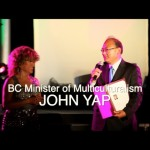Luisa Marshall with BC Minister of Multiculturalism, John Yap. Get Inspired Filipino Excellence & Appreciation Night (Part 2), On Spotlight & Creating Lifestyles - Simply the Best - The Luisa Marshall Show.