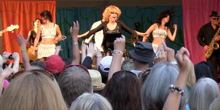 Luisa Marshall as Tina Turnerr at the Harmony Arts Festival 2012. Tina Turner Tribute.