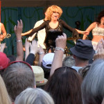 Luisa Marshall as Tina Turner on stage at the Harmony Arts Festival 2012.