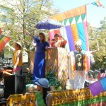 MLA Mable Elmore waves alongside Luisa Marshall a top the Pinoy Pride Float. Get Inspired Filipino Pride - Pinoy Pride Vancouver 2012 - Simply the Best - The Luisa Marshall Show.