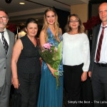 Sofiya Chorniy with her family.