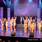 Swimsuit competition dance routine.
