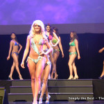 Tamara Jemuovic leads the way during the swimsuit competition.