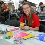 Becky Friesen volunteering at a Children's Festival.