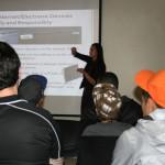 Katie Zeppieri speaks to the youth.