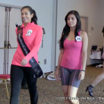 Miss World Canada 2013 delegates work on their walk.