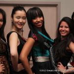 Kara Duncan center and Miss World Canada 2013 Delegates.