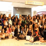 Miss World Canada Delegates with Nelo Mohammad at Pacific Centre Guest Services.