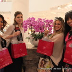 Chayla Delorme Maracle, Maria Ivancic, Chelsey Mori & Kara Duncan show off their Holt Renfrew gifts.