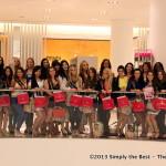 Miss World Canada 2013 delegates at Holt Renfrew.