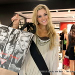 Chelsey Mori finishes her shopping at Guess Pacific Centre.