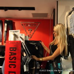 Miss World Canada delegate Tamara Jemuovic shopping at Guess, Pacific Centre.