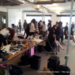 Miss World Canada 2013 Delegates getting their makeup done at LNG Studios.