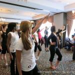Contestants practice their dance.