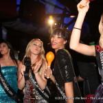 Chelsey Mori & Kara Duncan singalong from the dance floor at Secret Resto Lounge.