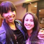 Kara Granger with fan Zenia Marshall.