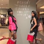 Kara Duncan and Neha Karamchandani at Guess.