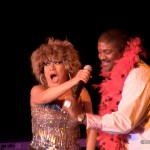 Tina Turner Tribute impersonator Luisa Marshall with Mark Anderson also known as Sybil Barrington.