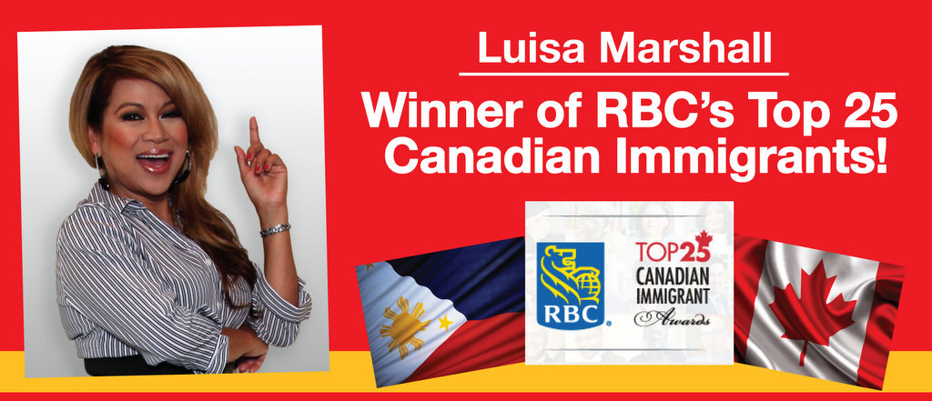 Luisa Marshall Winner of RBC's Top 25 Canadian Immigrants