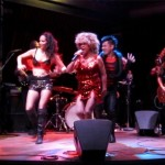 Luisa Marshall as Tina Turner at the 2013 FanClub Pride Party with her band and dancers.