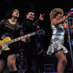 Tina Turner Tribute Artist, Luisa Marshall with guitarist Kim Mendez and dancer Leandro Mendez.