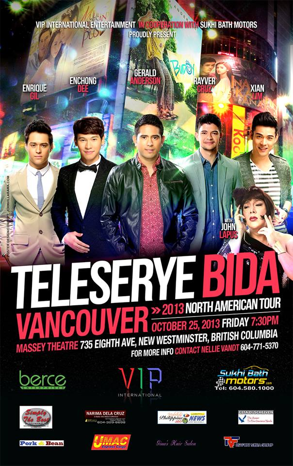 Teleserye Bida Vancouver Oct 25 2013 Poster