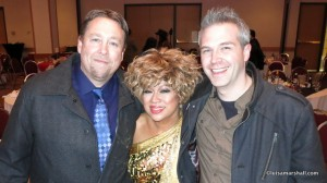 Prince George with PG event and promotions manager Norm Coyne & PG Citizen owner May:2014 Canon S110 picsIMG_5061 - Luisa Marshall Tina Turner Tribute Impersonator Lookalike BC Tour 2014