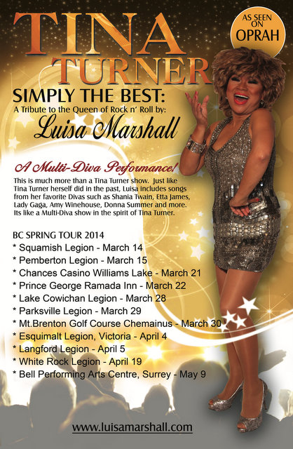 BC Spring Tour 2014 - Luisa Marshall as Tina Turner Tribute