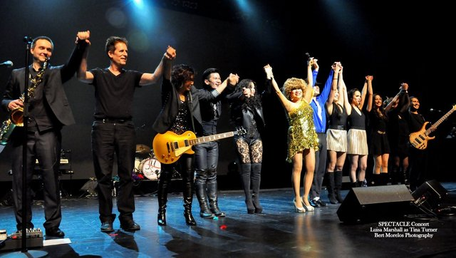 Tina Turner Tribute at the Bell Centre - Luisa Marshall with Band and Dancers - Standing Ovation