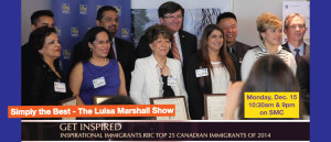 Featured - RBC's Top 25 Canadian Immigrants 2014 - Simply the Best TV Show - Luisa Marshall