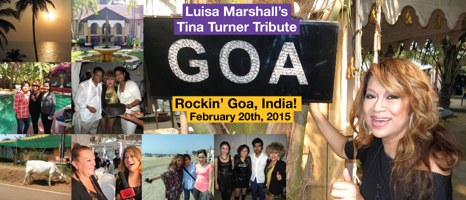 Featured-Luisa Marshall's Tina Turner Tribute ROCKS GOA, INDIA!