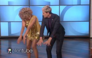 Luisa Marshall as Tina dancing with Ellen.
