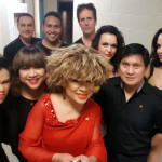 Luisa's band and dancers pose for a selfie backstage at the Port Theatre.