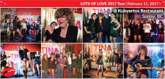 Luisa Marshall as Tina Turner @ Kubyertos Restaurant – Surrey, BC (February 11, 2017)
