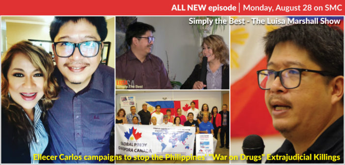 "Ellecer Carlos campaigns to stop Philippines' ""War on Drugs"" Extrajudicial Killings"